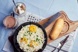 Fried eggs in Odessa