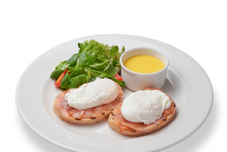 Benedict eggs with Hollandaise sauce