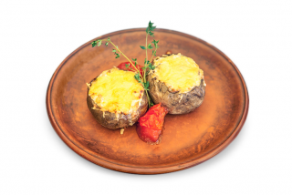 Language beef baked potato