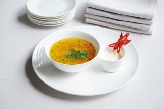 Zeamă (farm chicken soup with egg noodles )