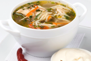 "Moldavian chicken soup ""Zeama"""
