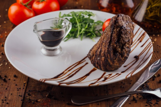 Veal Steak with balsamic sauce