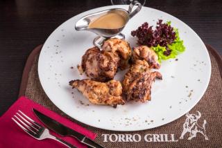Cotlet de carne de iepure în sos de frișcă