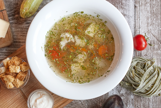 Soup with seasonal vegetables