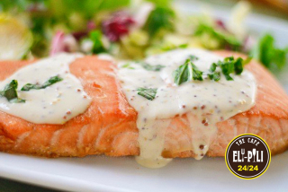 Salmon in a creamy sauce